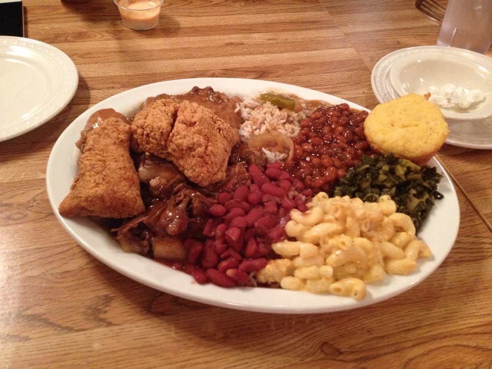Cat fish, smoother chicken, ox tail, red beans and rice ...