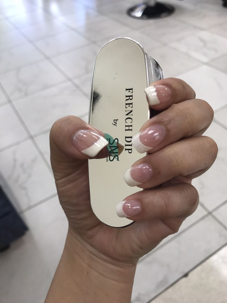 SNS French dip nails. Healthier version with vitamin E & calcium. - Yelp