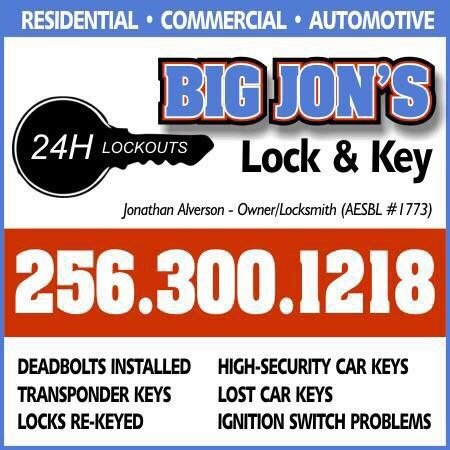 Big Jon's Lock & Key: 240 Embos Island St, Leesburg, AL