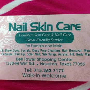 Nail skin care nail salons 1330 wirt rd spring branch houston photo of nail skin care houston tx united states business card colourmoves