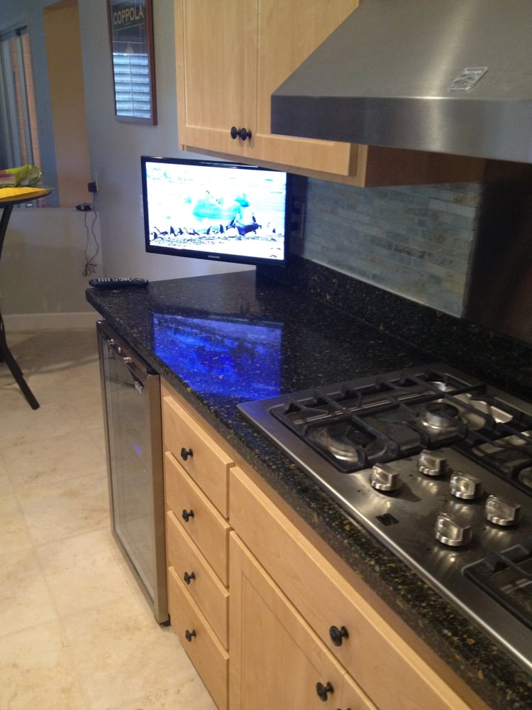 Kitchen tv wall mount yelp for Small wall mounted tv for kitchen
