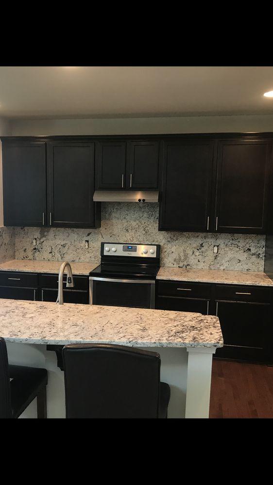 White Ice Granite Countertops With Full Backsplash Yelp