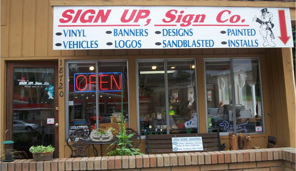 Sign Up, Sign Co., Inc.: 18720 Bothell Way NE, Bothell, WA