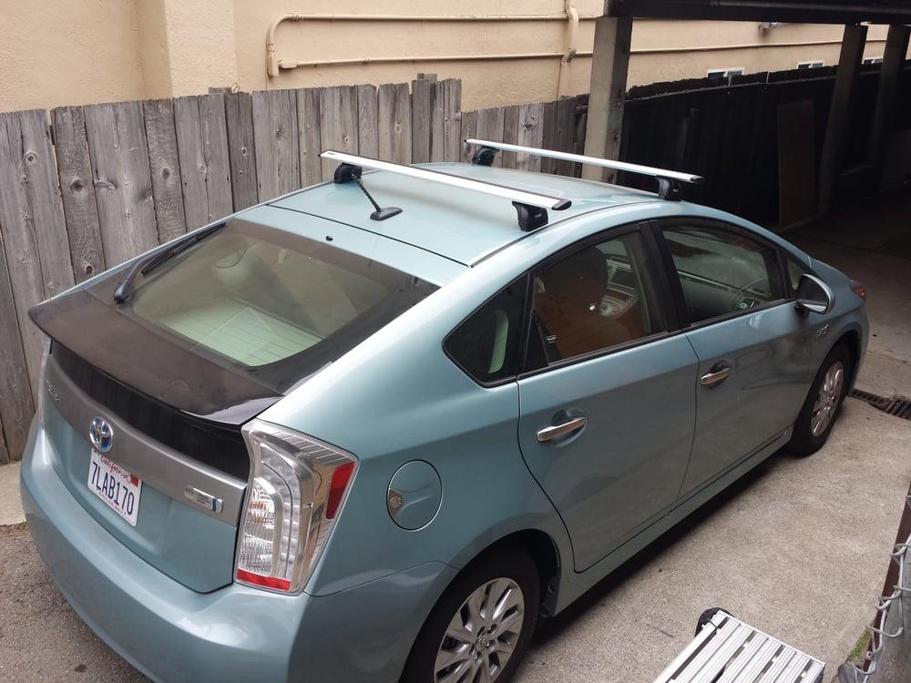 Toyota Berkeley Service >> Custom Thule rack system on a 2015 Toyota Prius C - Yelp