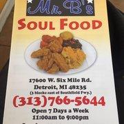 Mr B S Soul Food Detroit Mi