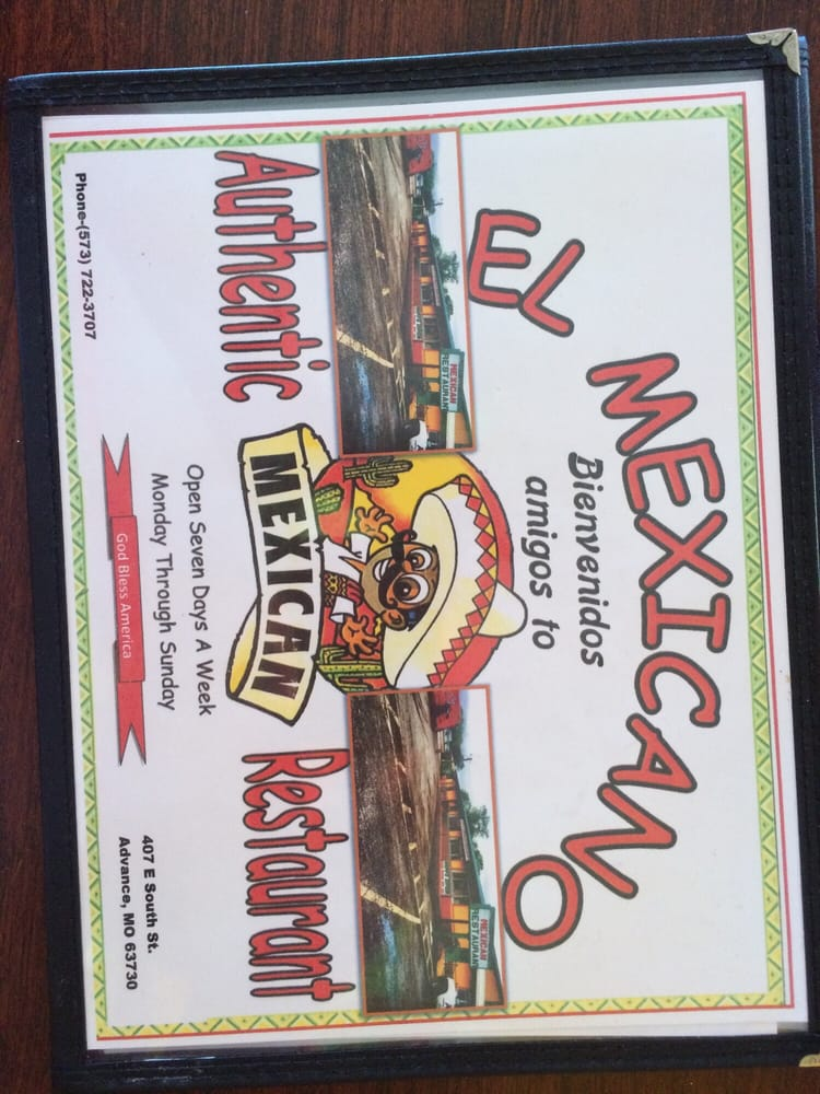 El Mexicano: 407 E South St, Advance, MO