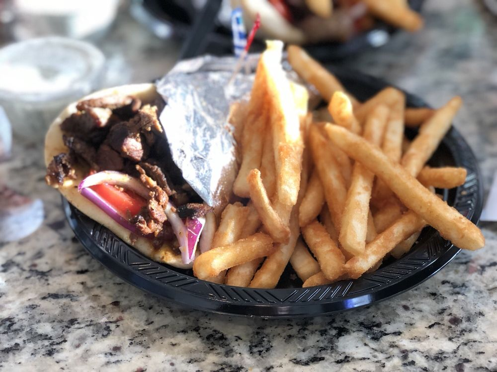 Food from Mad Greek Cafe