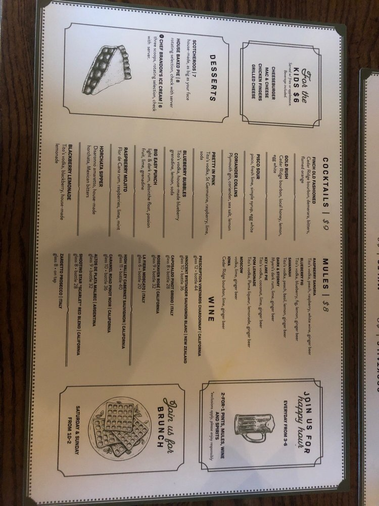 Goldfinch Tap + Eatery: 740 10th St, Marion, IA