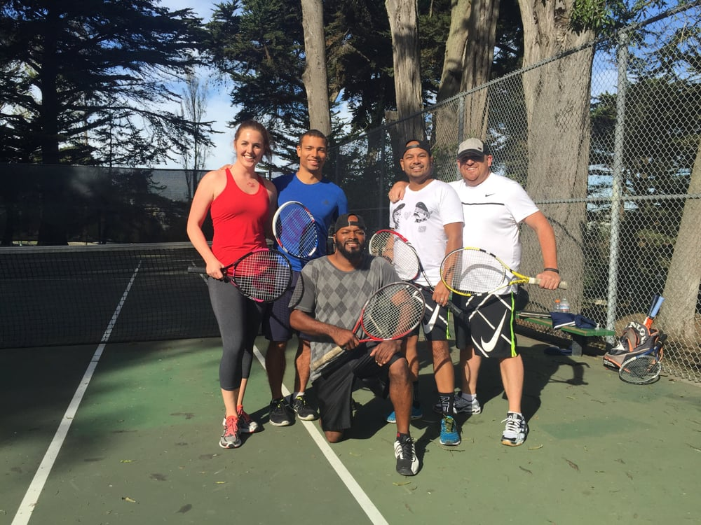 Photo of Tennis Lessons By Mcclain - San Francisco, CA, United States. Coach and Margo ,Keenan , Stevie and Richard