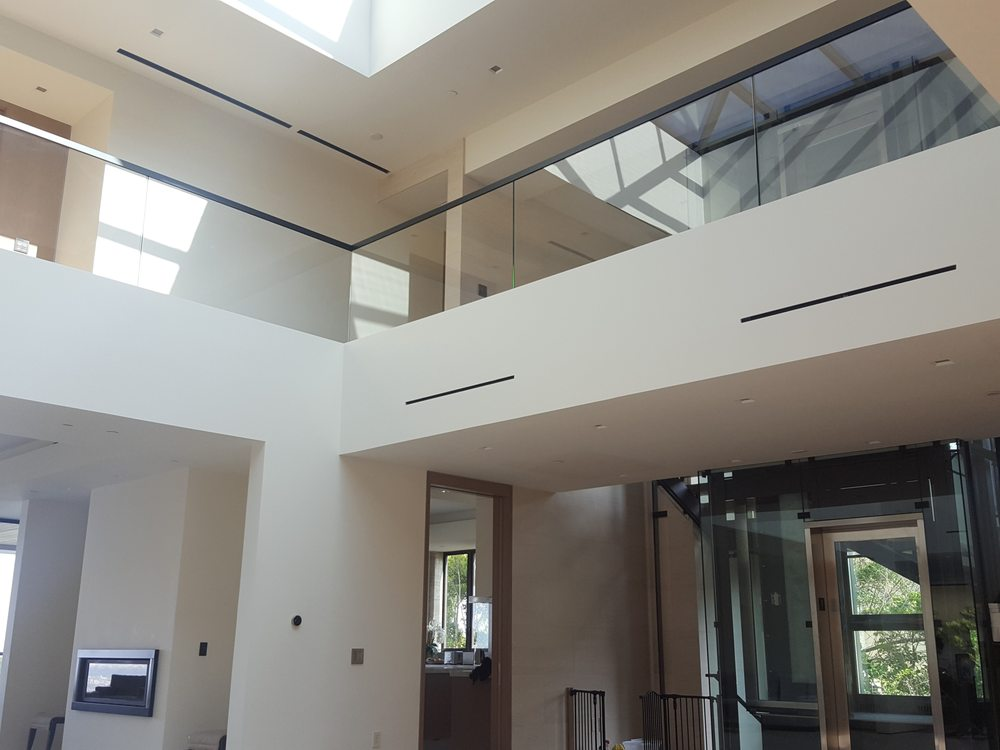 Linear Diffusers Installed With Great Symmetry All