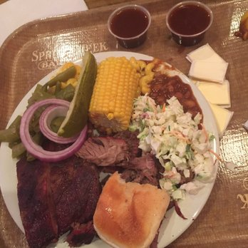 Photo Of Spring Creek Barbeque Frisco Tx United States Brisket And Rib