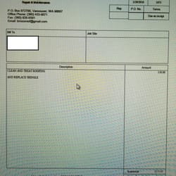 Photo Of Brisco Roofing   Vancouver, WA, United States. This Is The Invoice