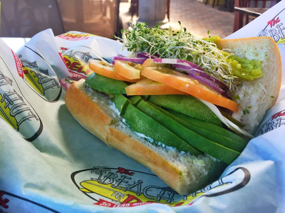 ... Hut Deli - Dana Point, CA, United States. California Veggie Sandwich