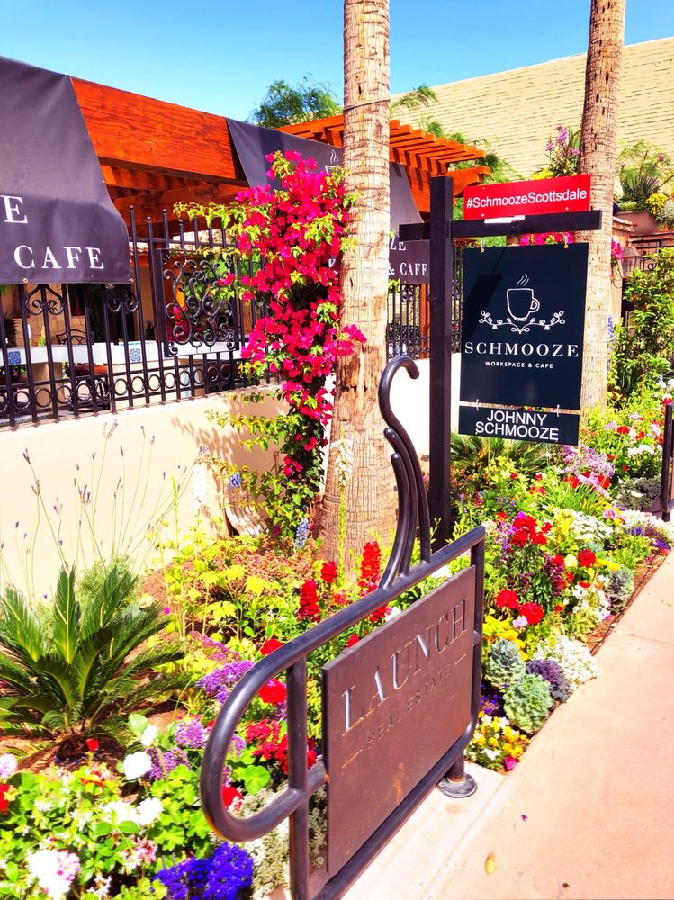 Photo of Schmooze Workspace and Cafe - Scottsdale, AZ, United States. The entrance to Schmooze