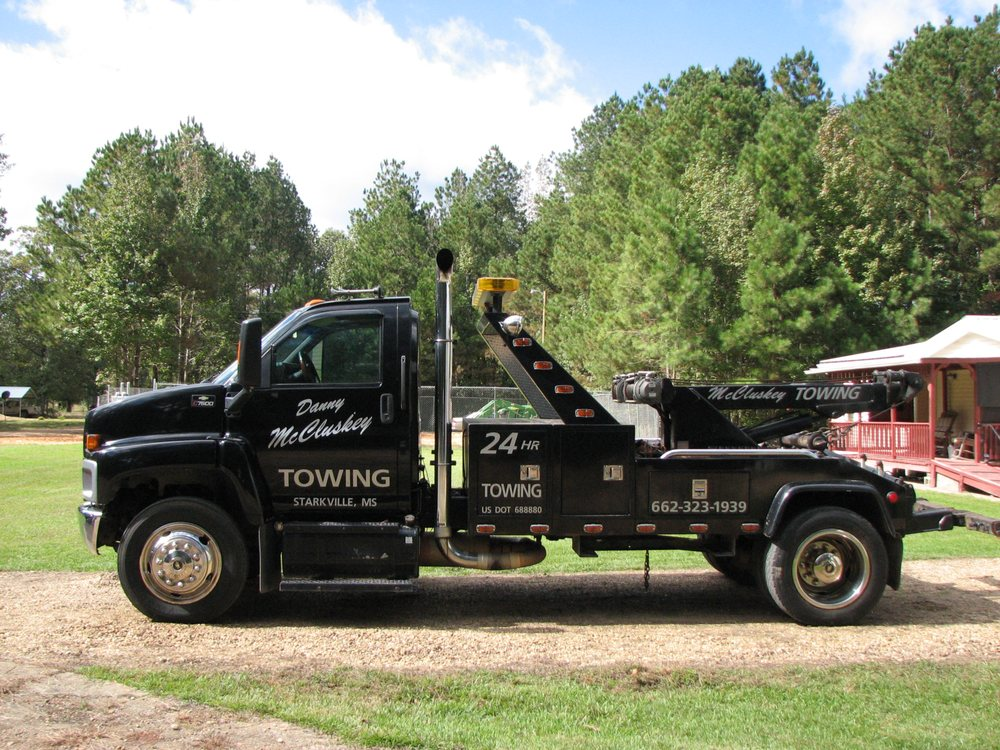 Danny McCluskey Towing Company: 178 Bell Oaks Dr, Starkville, MS