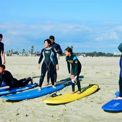 Photo Of Huntington Beach Surfing Lessons Ca United States Families