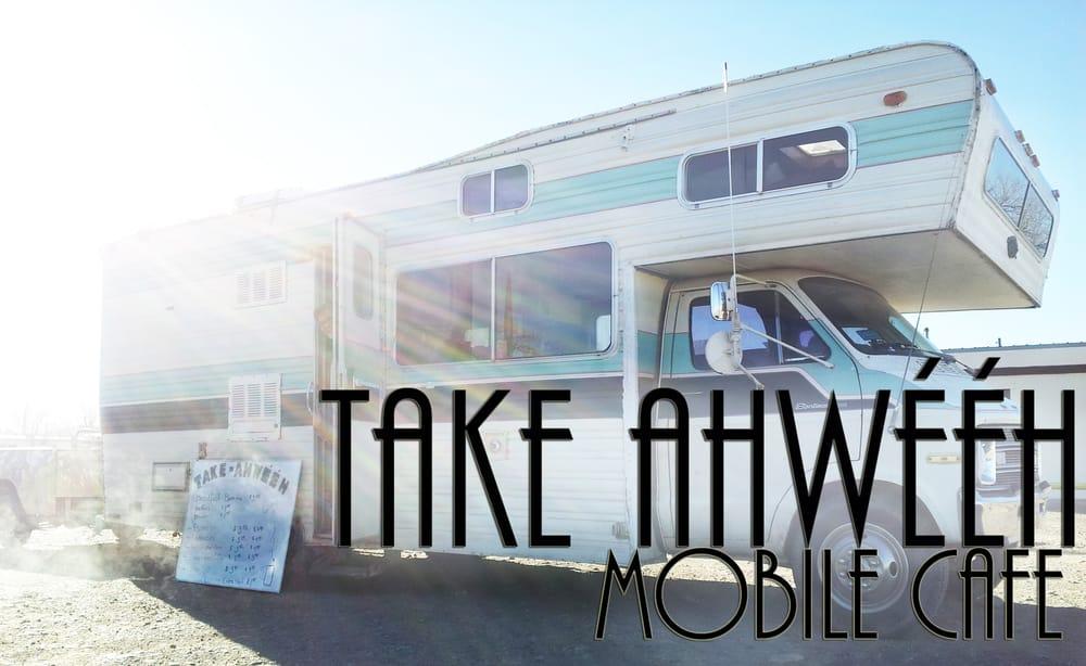 Take Ahweeh Food Truck: The White Striped Truck, Montezuma Creek, UT