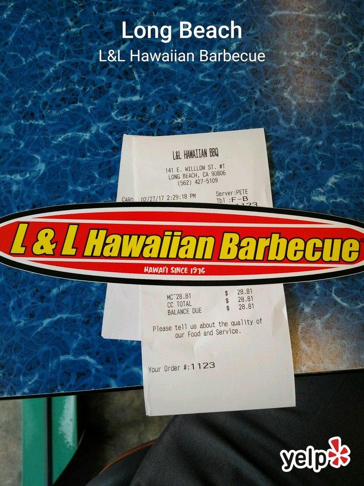 L L Hawaiian Barbecue Long Beach Ca