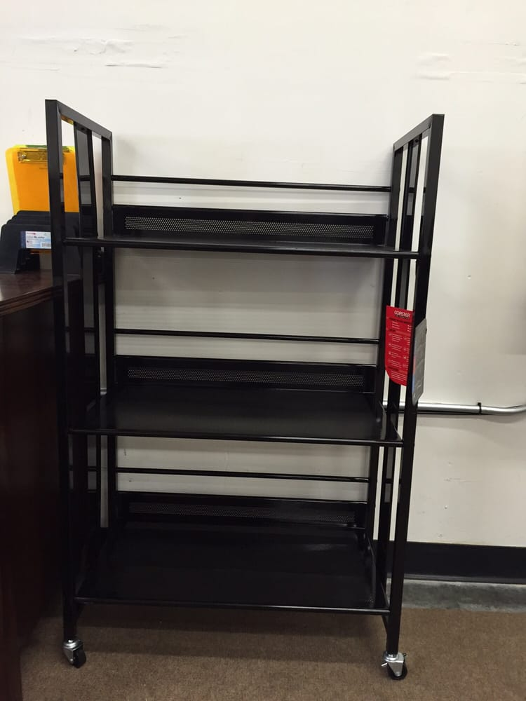 Brand New In The Box Comes With A One Year Warranty Metal Black Bookshelf For Only 79 Yelp