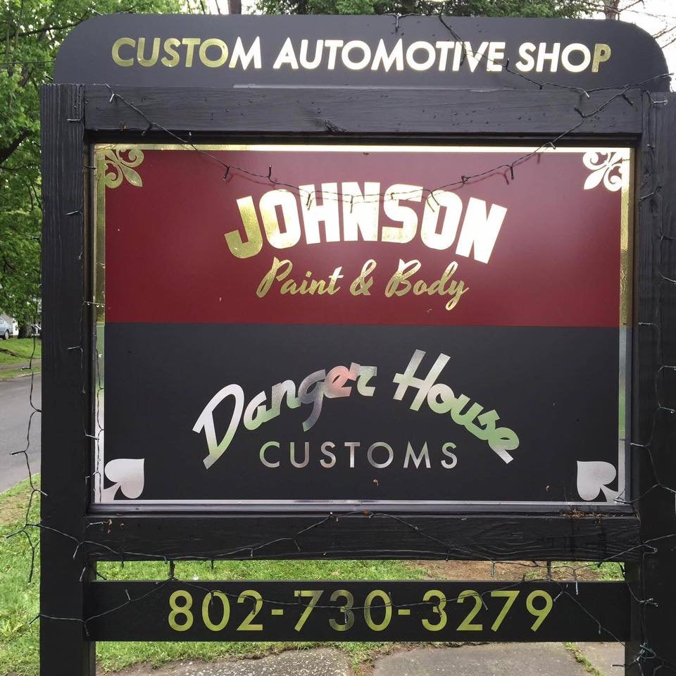 Danger House Customs/Johnson Paint & Auto Body: 152 Railroad St, Johnson, VT