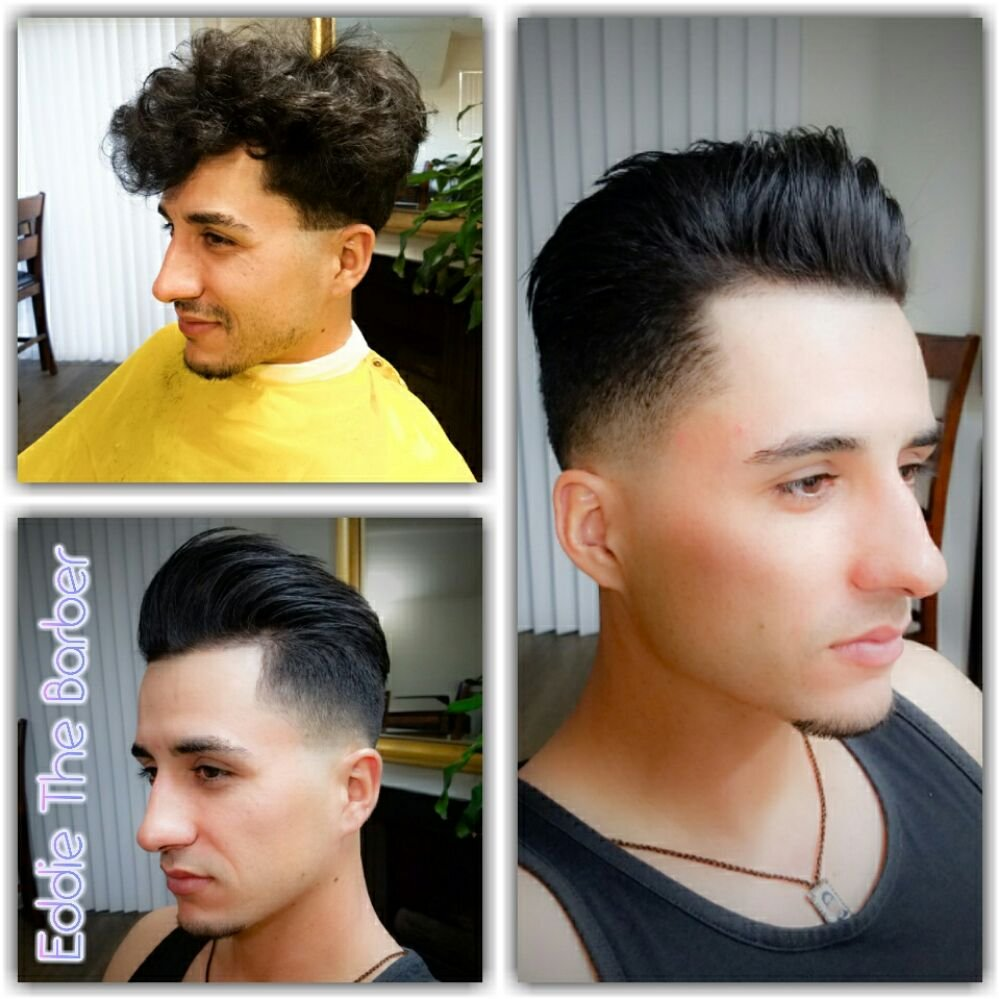 From Curly Hair To Straight Fade Haircut Razor Balde Shaved Blow