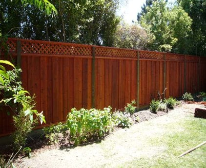 Good Neighbor Fence With Lattice Top Yelp