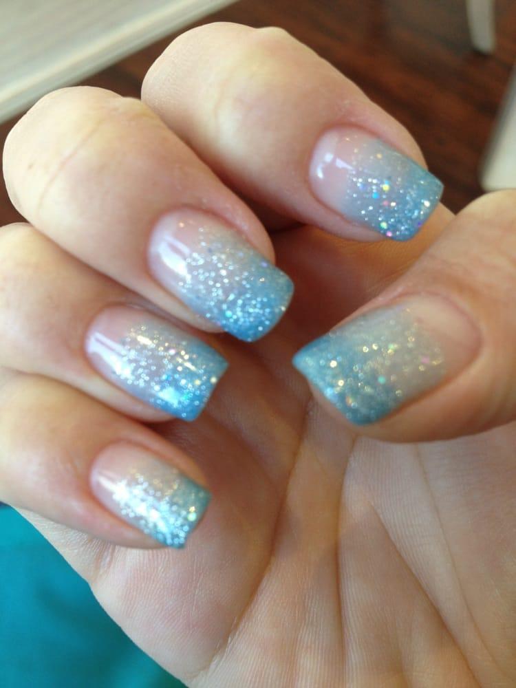 Famous Blue Fade Nails Component - Nail Art Ideas - morihati.com