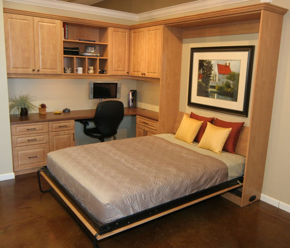 Fold Down Murphy Bed And Home Office