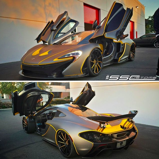 Mclaren P1 Wrapped In Matte Grigio Grey And First Wrapped