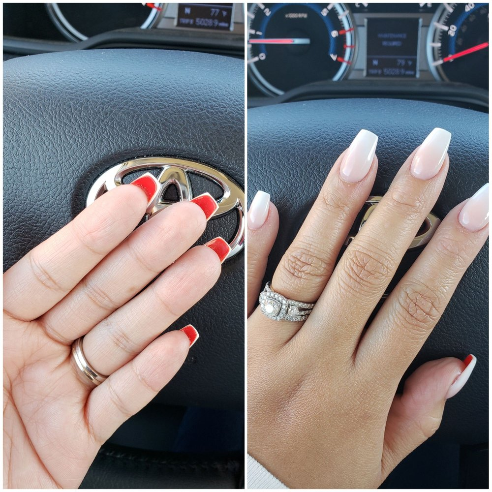 72660a9e091 Work done by Helen. Ombre nails with the nude powder not the pink ...