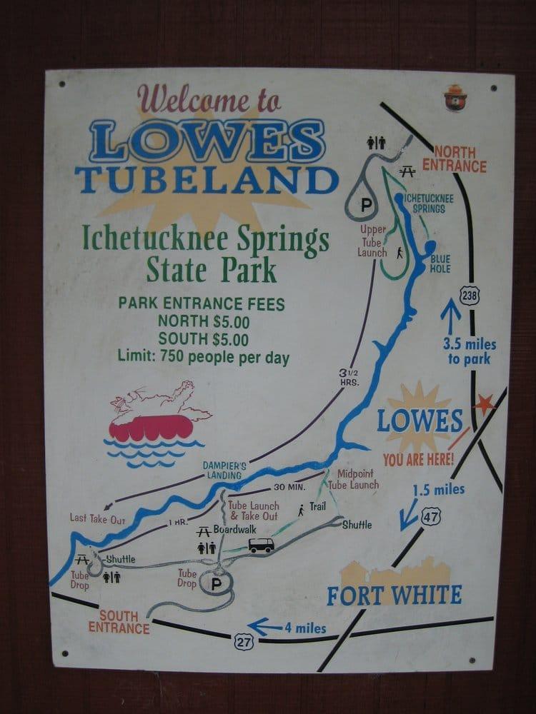 Lowe's Tubeland: 4655 SW Elim Church Rd, Fort White, FL