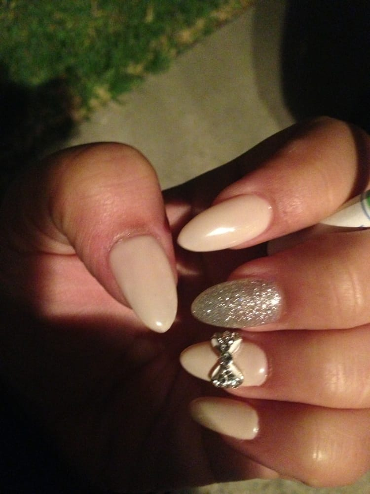 Nude stiletto nails by Kathy. - Yelp