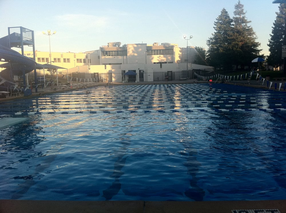 Olympic Pool - LAP Pool  Cal High in background- Weeknight