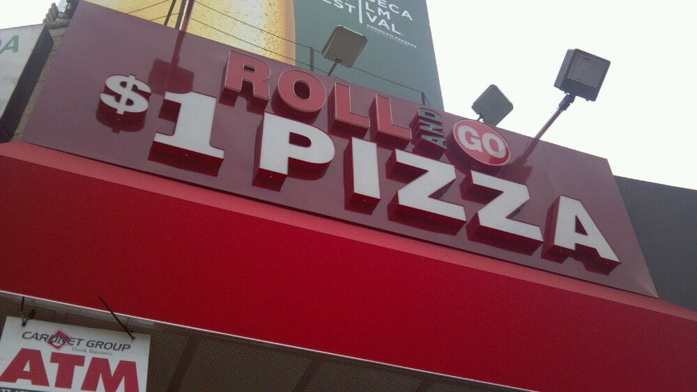 P O Of 5 Boroughs Pizza New York Ny United States 1 Dollar