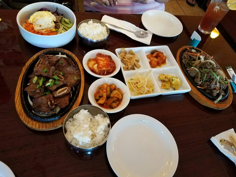 Photo of Korean Manna BBQ Restaurant - Lauderhill, FL, United States. Kalbi,bimibop & Bulgolgi with ban chan