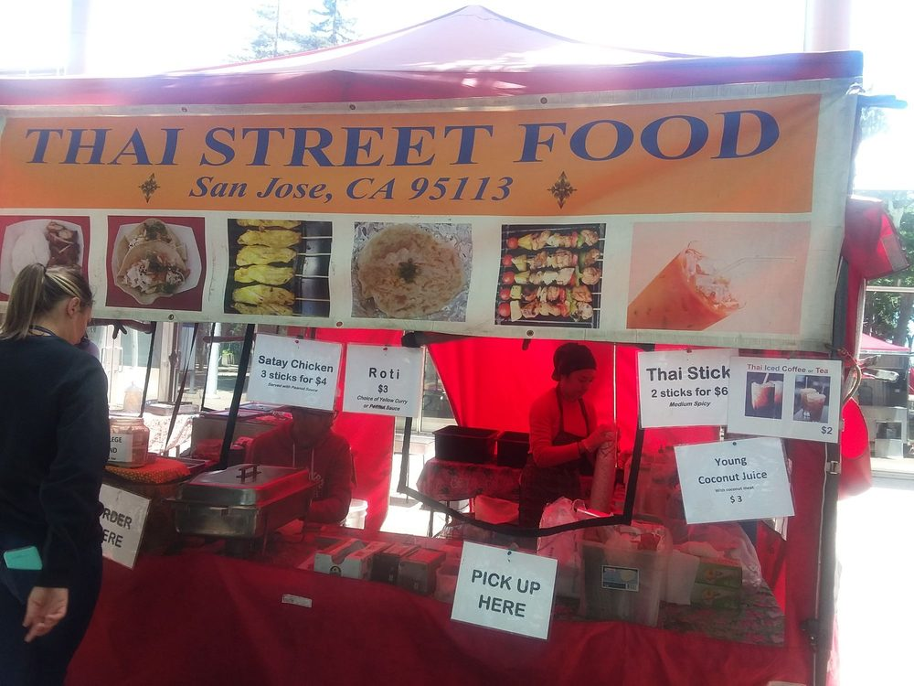 Thai Street Food: San Pedro St, San Jose, CA