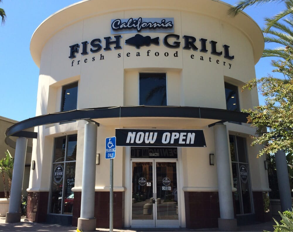 Very clean look from the outside it just opened less than for California fish grill