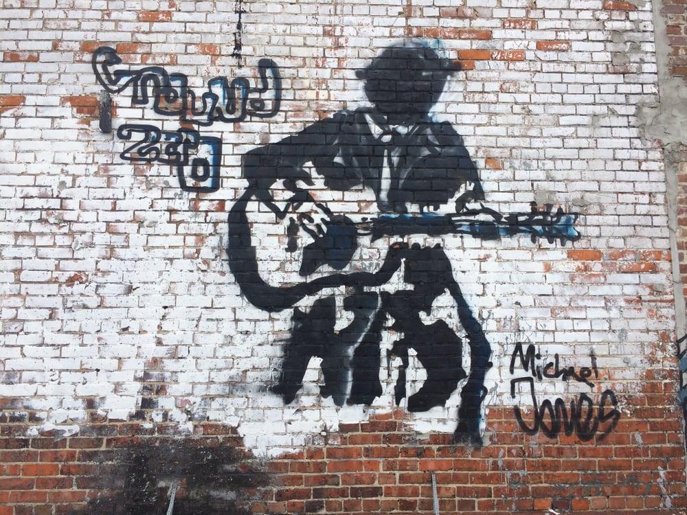 Clarksdale Street Art: 111 E 2nd St, Clarksdale, MS