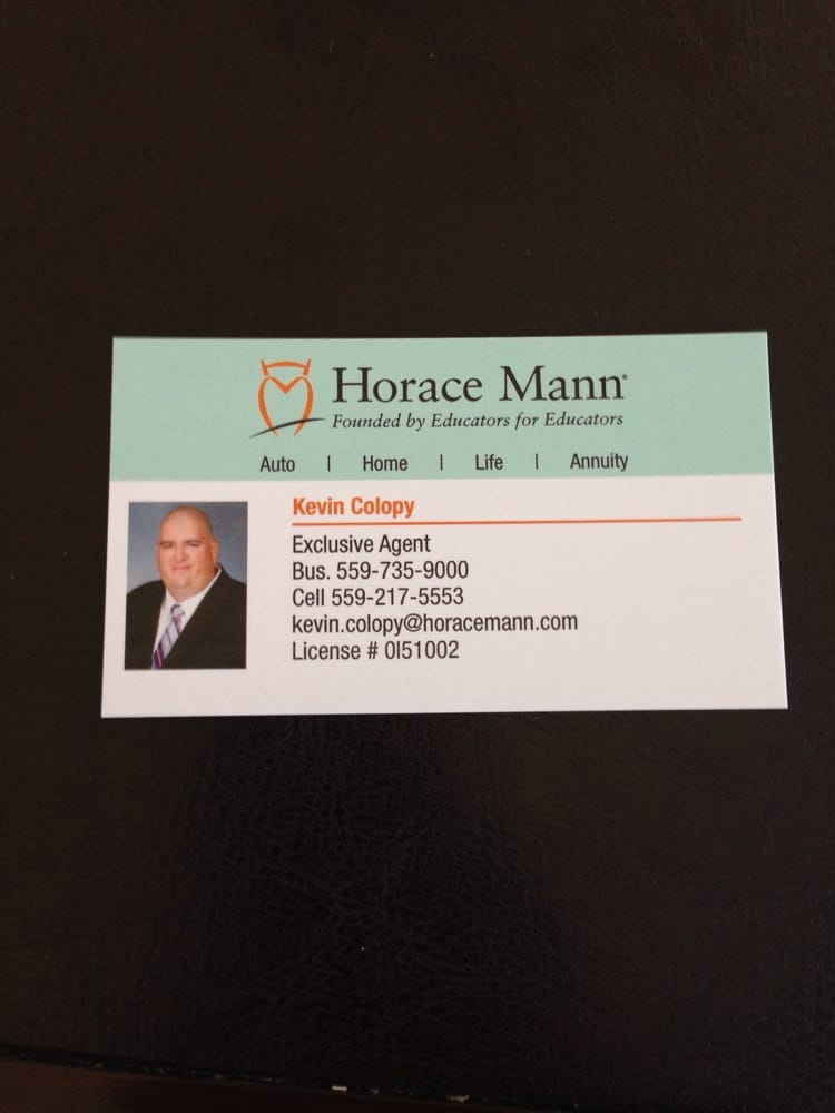 Horace Mann Insurance fice Kevin Colopy CLOSED Insurance
