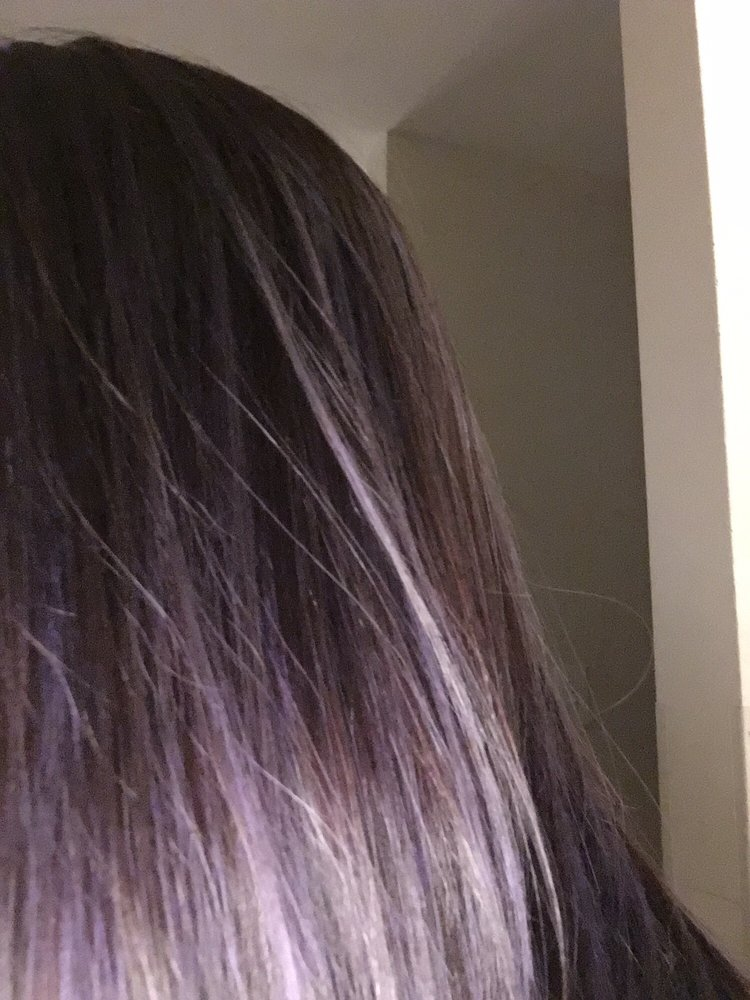 Brownish W Purple Highlight Done By Christine Love It Yelp