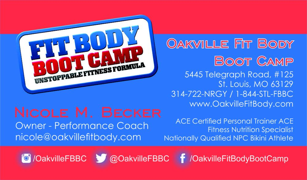 Oakville Fit Body Boot Camp Business Cards - Yelp