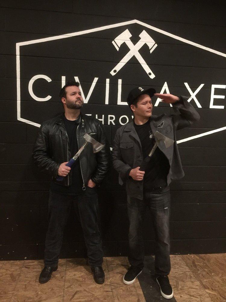 Civil Axe Throwing: 2620 Clinton Ave W, Huntsville, AL