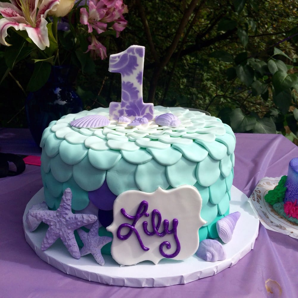 My Daughters First Birthday Cake For Her Mermaid Themed Party