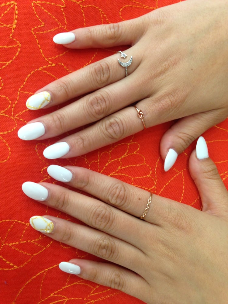 Photo Of Beauty Fusion Studio Sunnyvale Ca United States White Acrylic Nails