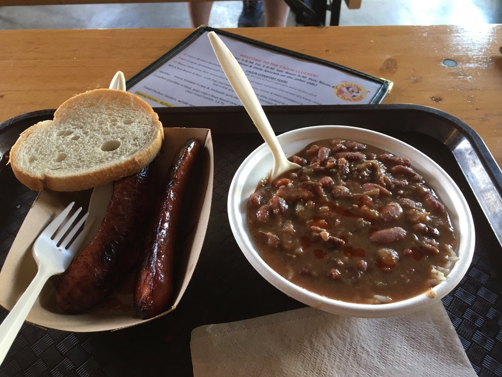 Red beans and rice from The Cajun Clucker food truck - Yelp