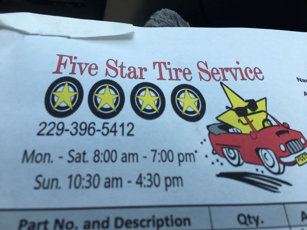 Five Star Tire Service: 811 7th St W, Tifton, GA