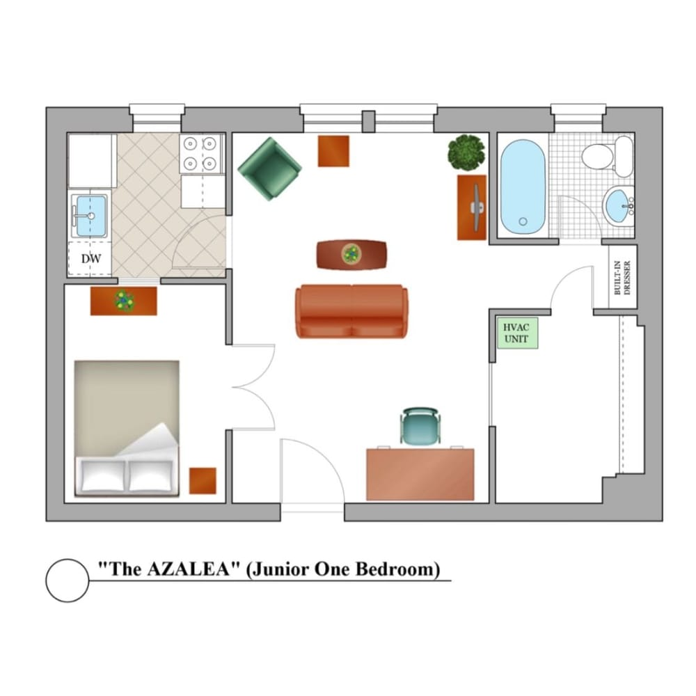 1 Bedroom Apartments For Rent Near Me: Come See Our Gorgeous Junior 1 Bedroom Apartment Floor
