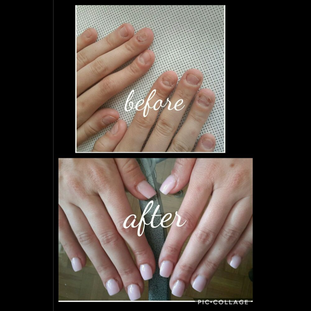 Sculpted gel nails for a serious nail biter - Yelp