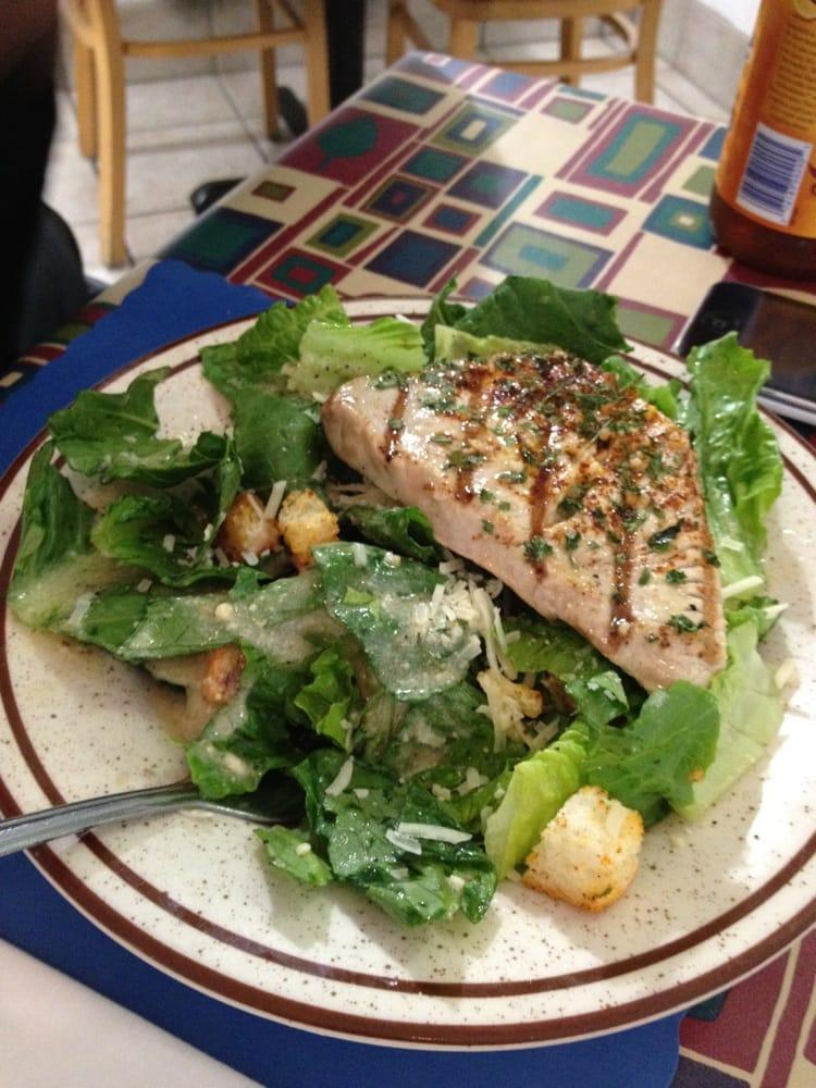 Grilled tuna caesar salad yelp for Harbor fish market