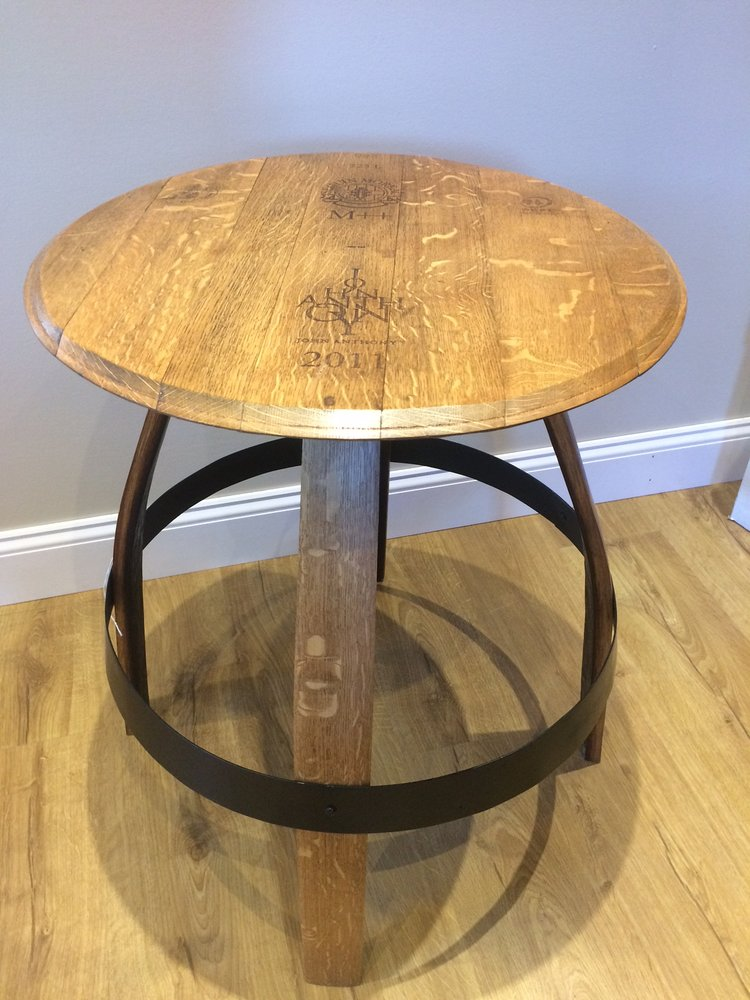 Custom Table From Wine Barrel Parts Yelp